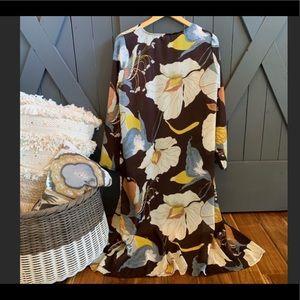 Full Length Floral Kimono Duster NWOT